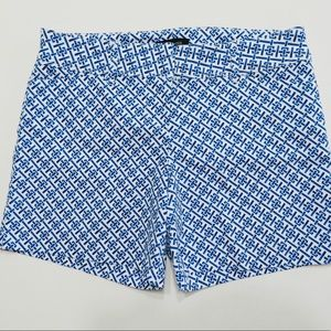 The Limited Blue and White Eccentric Print Shorts